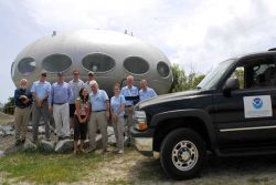 The Monitor National Marine Sanctuary Advisory Council being observed by aliens at Cape Hatteras Photo
