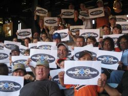 Decked out in NOAA logowear and commemorating the 200th Celebration, 58 NOAA employees headed to Baltimore to root for the hometeam -- and the Orioles Photo