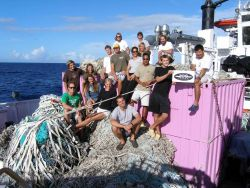 Aloha from the Pacific Island's Fisheries Science Center Marine Debris Program! Twenty four metric tons of abandoned lines and ghost nets were collect Image