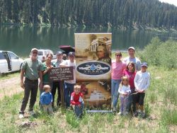 Personnel and family members from the National Weather Service Office in Grand Junction, Colorado participate in their annual Adopt a Lake clean up pr Photo