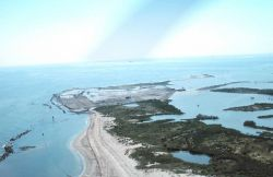 An aerial view of the West End of East Timbalier Island. Image