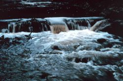Water rushes over the lip of the pools Photo