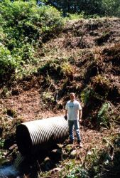 An image of the culvert that was removed and replaced Photo