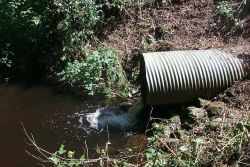 An image of the culvert that was removed and replaced. Photo