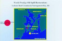 When the World Prodigy tanker grounded on June 23, 1989 over 290,000 gallons of oil spread across more than 120 miles of Narragansett Bay and Rhode Is Photo
