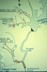 A map of the Iron Mountain Mine area Image
