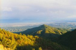 A view of Redding, California from Iron Mountain. Image