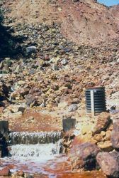 Acid stream mine drainage at iron Mountain Mine. Image