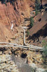 Acid run off at Iron Mountain Mine. Image