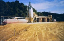 A treatment plant to treat acid water at, 140 gallons per minute gpm. Image