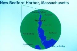 A map of New Bedford Harbor Image