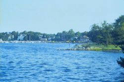 East side of New Bedford Harbor, Fairhaven, MA. Photo