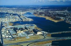 A good view of the whole west side of New Bedford Harbor Image