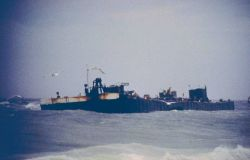 North Cape Barge, grounded on Moonstone Beach, South Kingstown, RI 1996 Photo