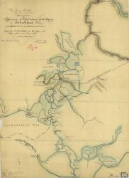 Draft diagram of Approaches to New Orleans, by the Bay of Atchafalaya and New Orleans and Opelousas Railroad, T-30. Photo