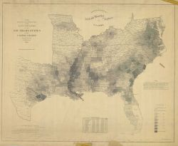 Map showing the distribution of the Slave Population of the Southern States of the United States, compiled from the census of 1860 Photo