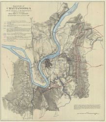 Battlefield of Chattanooga with the operations of the National Forces under the command of Major General U.S Photo