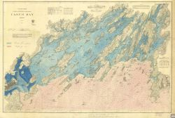 Chart of Casco Bay, Maine Photo