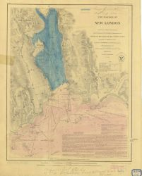 Chart of The Harbor of New London Photo