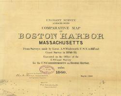 Title block to Comparative Map of Boston Harbor, Massachusetts. Photo