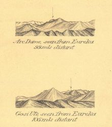Reconnaissance views across the mountains of the Great Basin at the beginning of the work on the 39th Parallel Arc of Triangulation which extended fro Photo