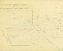 W section of Geodetic Reconnaissance from the Sierra Nevada to Wasatch Mountains Photo