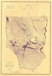Topography T-1466a of Round Top, Alpine County, California, Section 10 Photo