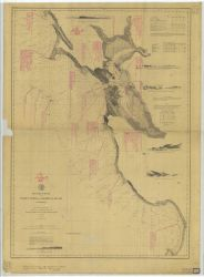 Chart annotated with shipwreck information for vicinity of San Francisco Bay Photo