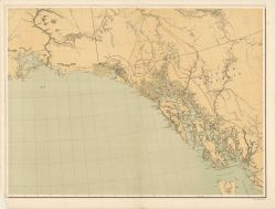 SE section of base map of Alaska published by the U.S Photo