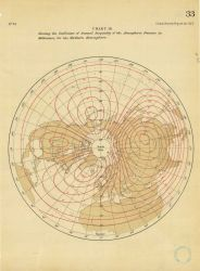 Coefficient of the Annual Inequality of the Atmospheric Pressure in millimeters... Photo