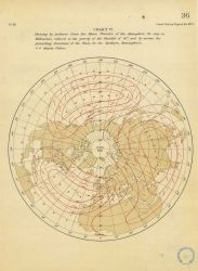 Map showing by isobaric lines the mean annual pressure of the atmosphere for July in millimeters by William Ferrel Photo