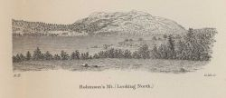 Coastal view of Robinson's Mountain, (Looking North), by Edwin Hergesheimer, one of the greatest of Coast Survey topographers and cartographers. Photo