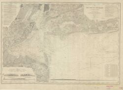 Single sheet of Map of New York Bay and Harbor Photo