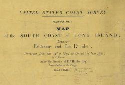 Title block of topographic sheet 3 of the United States Coast Survey Photo