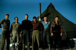 Launch 15 crew - Stan Jeffers, Abe Simmons, Harley Nygren, Jerry Gray, Ted Shanahan, and Harry Lantzy Photo