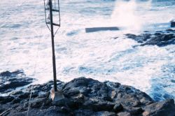 Rock, spray, and wind make for a tricky entrance to Depoe Bay Photo