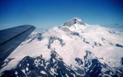 Flying home for leave over Mount Iliamna Photo