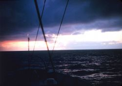 A Gulf of Alaska sunset as the PATHFINDER heads home from a long season. Photo