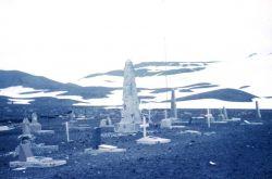 A whaler's cemetery on Deception Island Photo