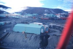 McMurdo Station from a small aircraft Photo