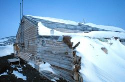 The Scott shelter at Cape Evans - He departed from this shelter on his fatal trip to the South Pole. Photo