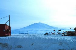 A last look at Mount Erebus before heading to the South Pole Photo