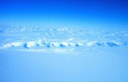 The Transantarctic Mountains seen from the C-130 while flying to the South Pole Photo