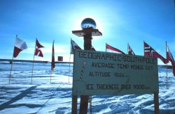 The geographic South Pole Photo