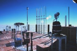 Instruments mounted on the roof of the Clean Air Facility Photo