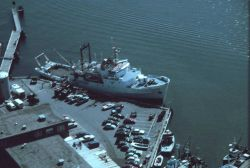An aerial view of the ALBATROSS IV at Woods Hole Photo