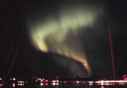 Aurora borealis seen while departing Juneau. Photo