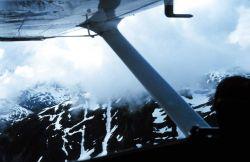 Aerial view on the way to Taku Glacier Lodge Photo