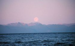 Moonrise in Chatham Strait. Photo