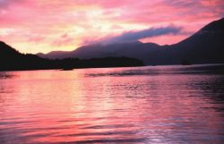 Sunset in the Inside Passage. Photo